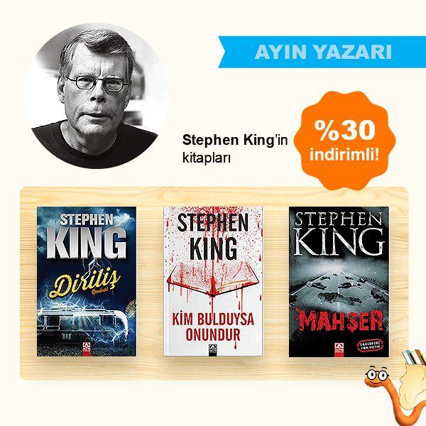 Ayın Yazarı Stephen King'in Kitapları %30 İNDİRİMLİ!  Hemen Satın al: