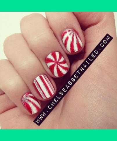 Candy Canes christmas #nail #nails #nailart