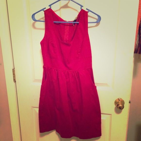 Small Crimson Dress This is a really cute dress! I only wore it a few times. It is a size small, and it zips up the back. It also has pockets  Deja Vu Dresses
