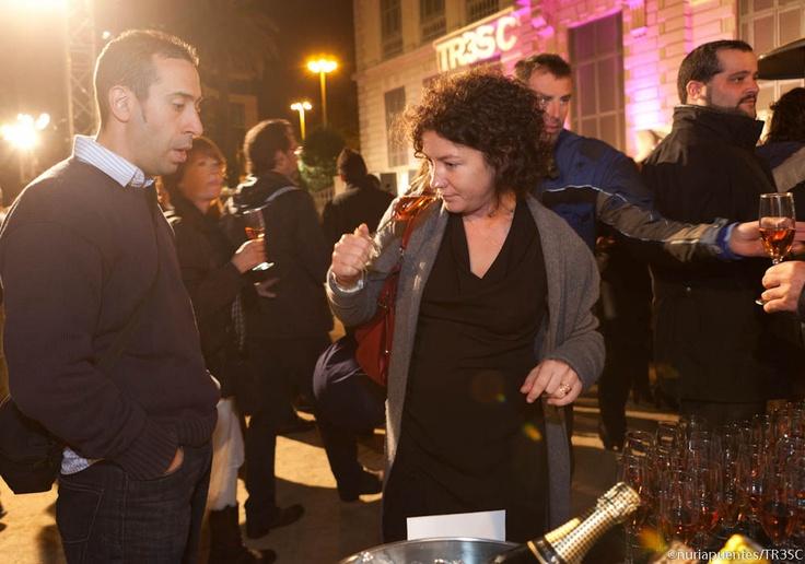 Cata de Gran Codorniu Pinot Noir Vintage en la inauguración del área de vinos del Club TresC