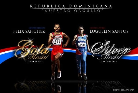 El Super Sanchez and El Rayo Luguelin!!..Gold and Silver for my country in London 2012..i'm soo proud!!!!....muchas gracias!!!..:D