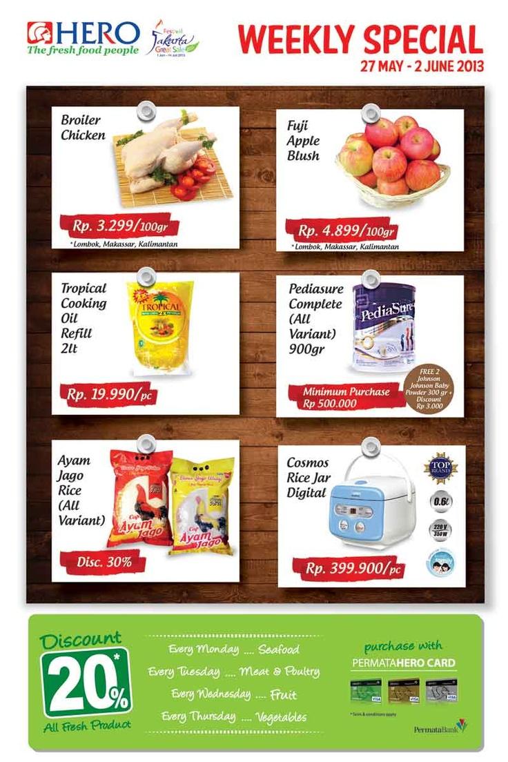 Weekly Special promo untuk Lombok, Kalimantan dan Makassar (27 May - 02 June 2013)