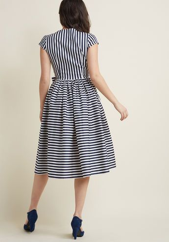 17e2961977f4 Collectif Ladylike Luncheon Midi Wrap Dress - A get-together with the gals  for a midday meal reveals itself as the perfect opportunity to debut this  retro ...