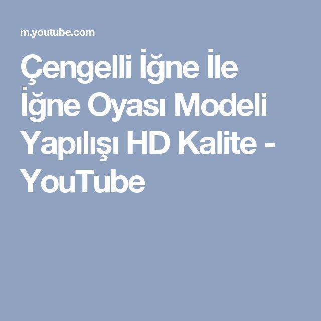 Çengelli İğne İle İğne Oyası Modeli Yapılışı HD Kalite - YouTube