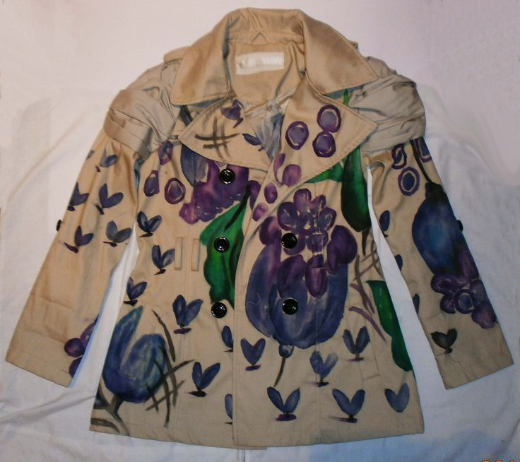DIY burberry painted trench coat replica