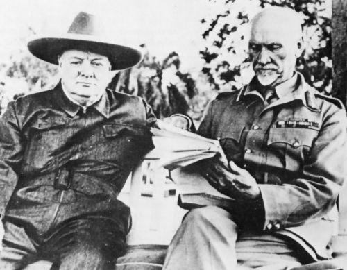 Jan Smuts and Winston Churchill iin 1942