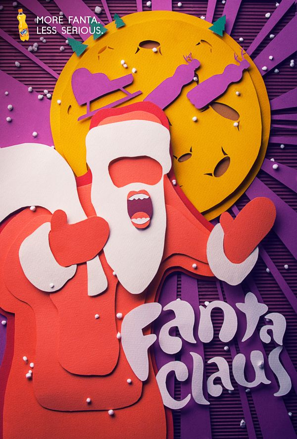 Santa Fanta Family by Vitaliya Zhiryakova, via Behance