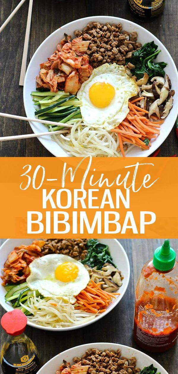 This 30 Minute Korean Bibimbap Recipe Is A Mixture Of Sesame Fried Vegetables Minced Beef Kimchi S Bibimbap Recipe Minced Beef Recipes Bibimbap Recipe Easy