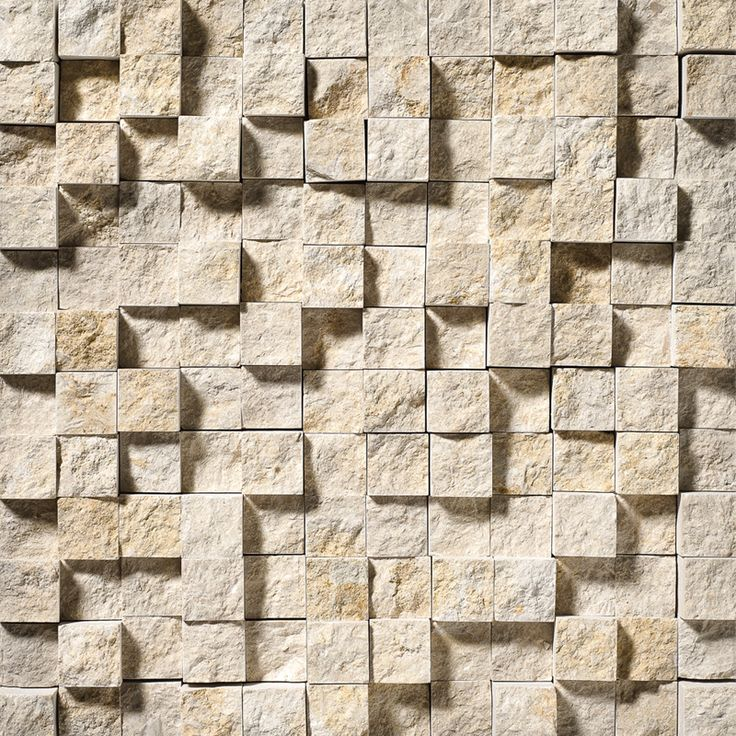 Seashell Rock Face 1x1 Limestone Mosaics 12 5/8x12 5/8 | From Country Floors of America
