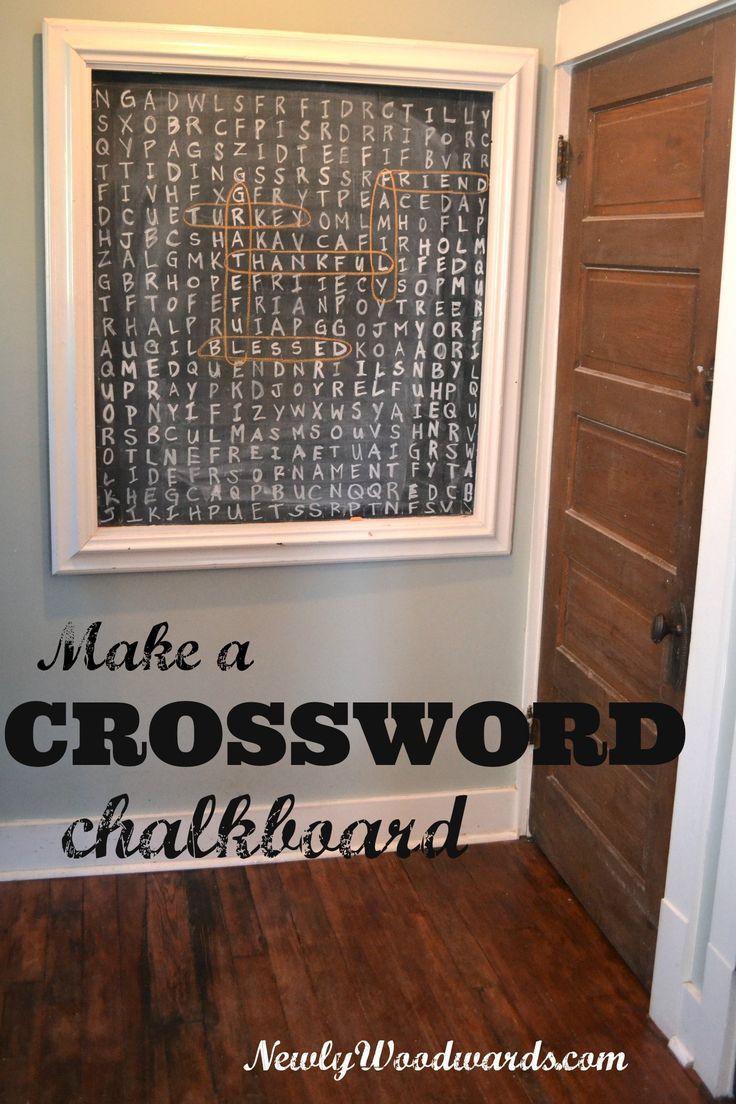 crossword chalkboard