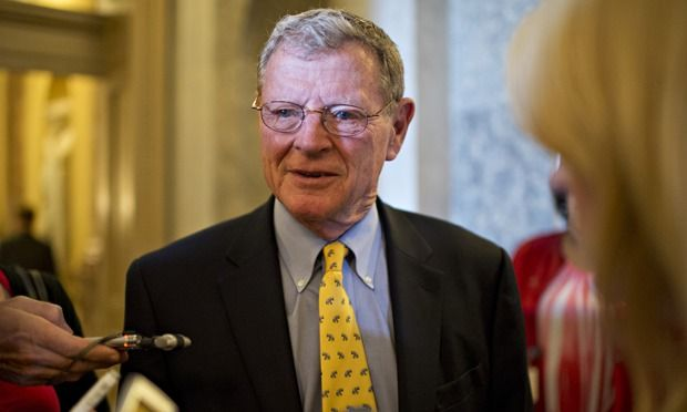 Climate change denier Jim Inhofe in line for Senate's top environmental job