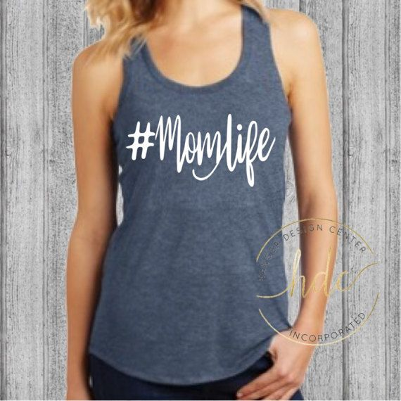 Mom Life Racer Back Gym Tank Womens MomLife by HangerDesignCenter
