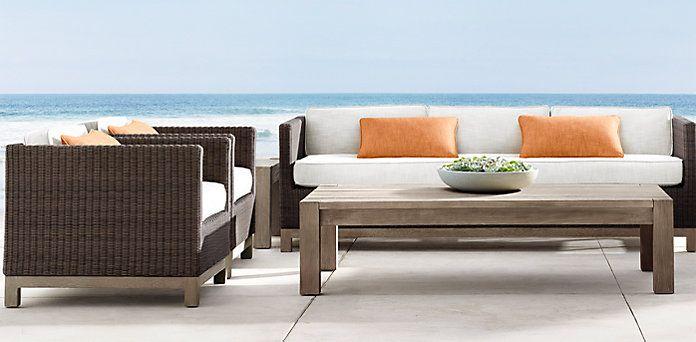 Malibu Brown Restoration Hardware Outdoor Lounge