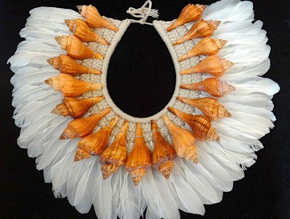 Designer Boho Shell Necklace White Feather Women Fashion Home