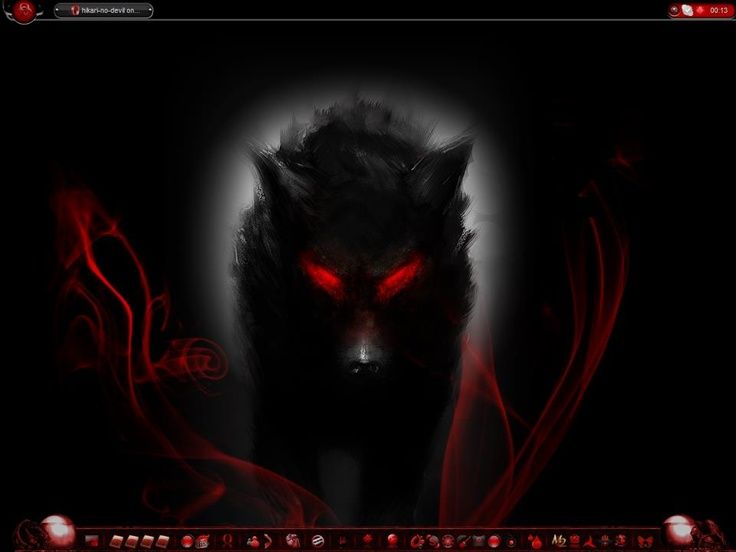 Black Wolf with Red Eyes Demon | Uploaded to Pinterest ...