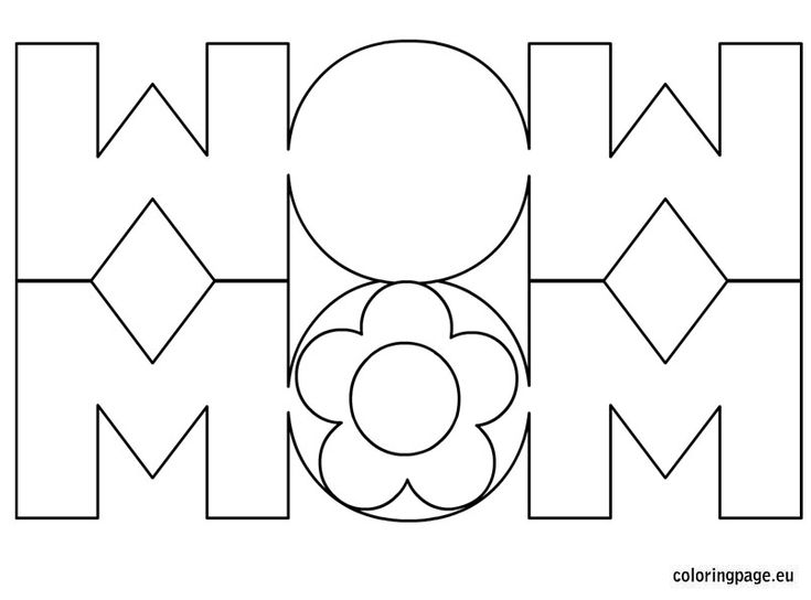 Mom Card Coloring Page