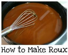 Deep South Dish: Easy Dark Oven Roux  A dark roux is essential to a good southern gumbo, but it's time consuming, you can get burned easily, or worse, burn the roux and have to start over. This easy oven method really simplifies roux making & you can make it ahead & store!  this is exciting for me!