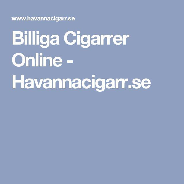 Billiga Cigarrer Online - Havannacigarr.se