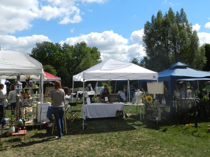 Annual Art Fair at Northwind Perennial Farm in Burlington, WI.