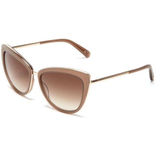 kate spade new york Kandi Combo Cat Eye Sunglasses - Bloomingdale's... (325 BGN) ❤ liked on Polyvore featuring accessories, eyewear, sunglasses, cateye glasses, retro style sunglasses, cat eye glasses, kate spade eyewear and retro glasses