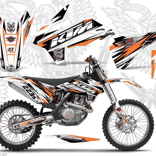 Psc KTM graphics on fire lately !!! Available for all KTM models / www.psychosportscartel.com
