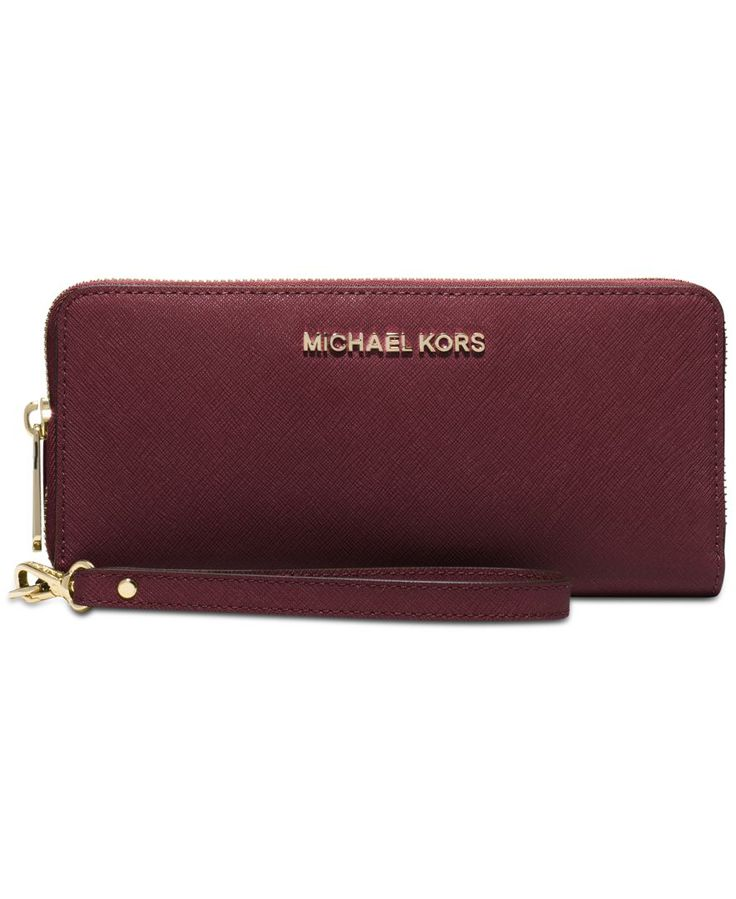 MICHAEL Michael Kors Jet Set Travel Continental Wallet - Wallets & Wristlets - Handbags & Accessories - Macy's... I cannot choose between this color or light grey