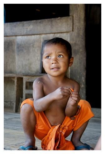 a boy from bena village, flores, east nusa tenggara