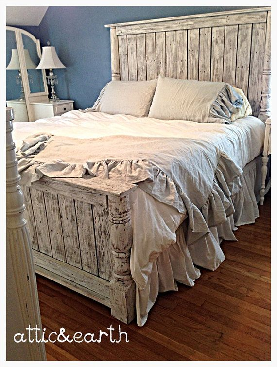 Hey, I found this really awesome Etsy listing at https://www.etsy.com/listing/212206080/shabby-chic-handmade-headboardfootboard