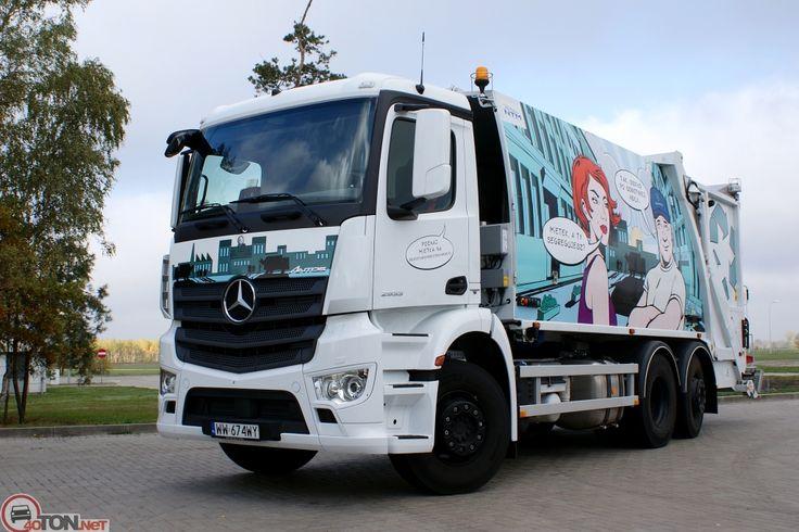 Mercedes-Benz Antos 2533 śmieciarka NTM KGHH z automatycznym wrzutem NTM DynamicLift. Refuse truck, rear loader, garbage vehicles, Kommunalfahrzeuge, Benne a ordures, Recolectores, piccoli camion, Carico posteriore