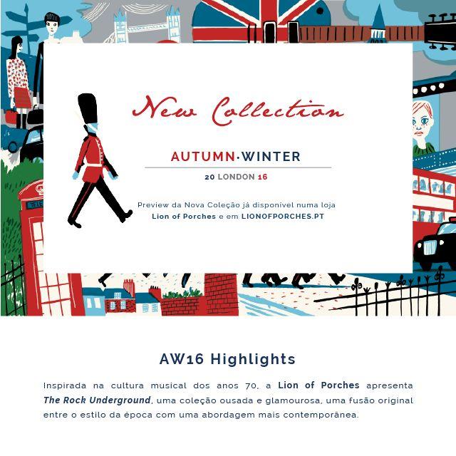 New Collection Autumn.Winter 16/17 l The Rock Underground Preview da Nova Coleção já disponível numa Loja Lion of Porches e em www.lionofporches.pt
