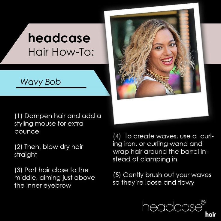 Get a wavy bob just like Queen B! #hairtutorial #headcasehowto #hairtrends #beachwaves