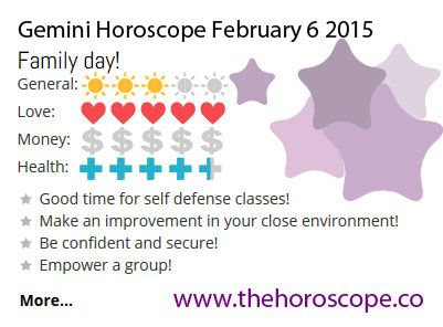 Family day for #Gemini on Feb 6th #horoscope ... http://www.thehoroscope.co/horoscope/Gemini-Horoscope-today-February-6-2015-2140.html