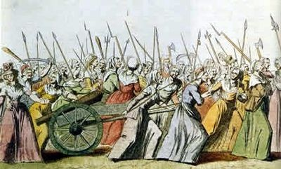 An illustration of the Women's March on Versailles, 5 October 1789. (wikipedia)