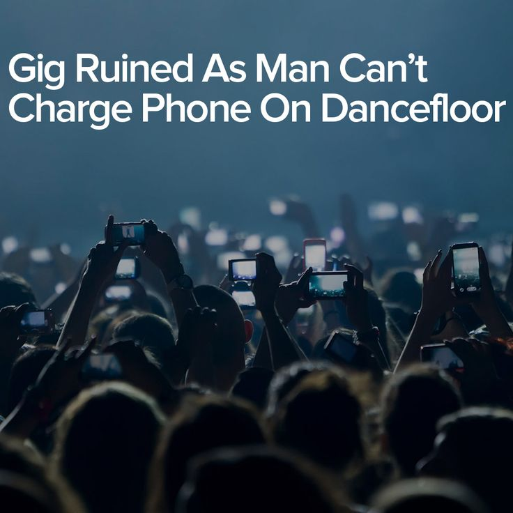 Gig Ruined As Man Can't Charge Phone On Dancefloor