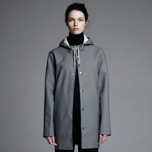stutterheim, stockohlm, grey, raincoat, rainwear, regnjacka, online