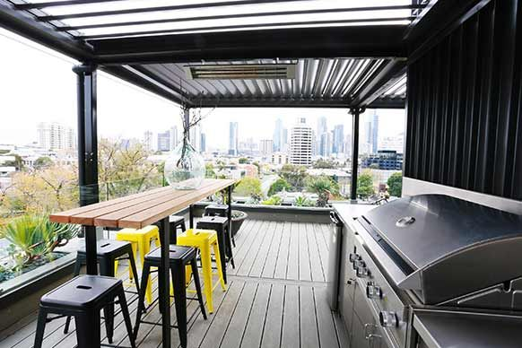 Pictures from The Block's exterior, rooftop terrace and foyers.  #furniture #bangbangwho