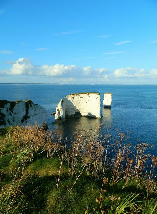 Old Harry Rocks located in Handfast Point, on the Isle of Purbeck in Dorset, southern England