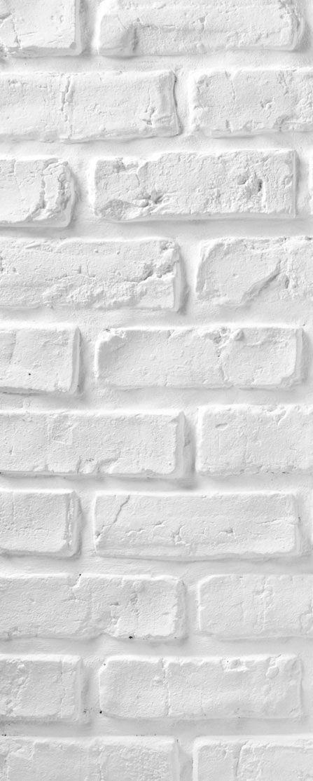 Décorer de vos pièces dans un style loft avec ces plaquettes de parement aspect brique blanche.