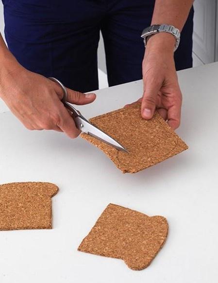 suporte de copo com formato de pão