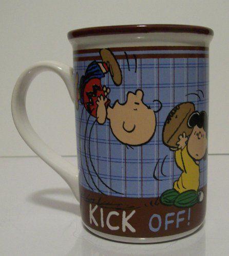 Peanuts CHARLIE BROWN FOOTBALL/KICK OFF 14oz. Mug (NEW) @ niftywarehouse.com #NiftyWarehouse #Peanuts #CharlieBrown #Comics #Gifts #Products