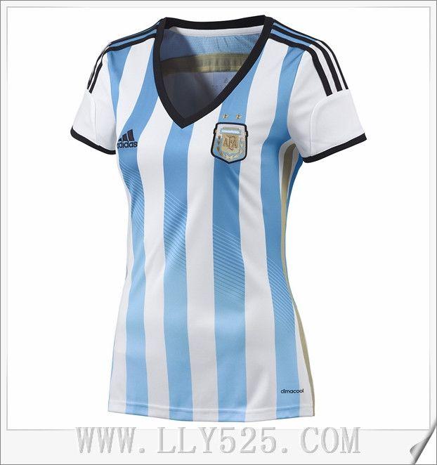 Nouveaux Maillot De Foot Argentine Femmes pas cher 2014 Coupe Du Monde Domicile en ligne de lly525.com
