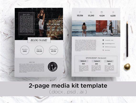 Best Media Kit Images On   Media Kit Template