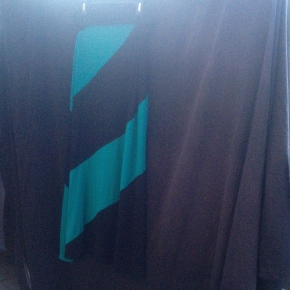 Plus Size maxi skirt USA made never worn Cute plus size skirt USA made. Teal and black emerald collection Skirts Maxi