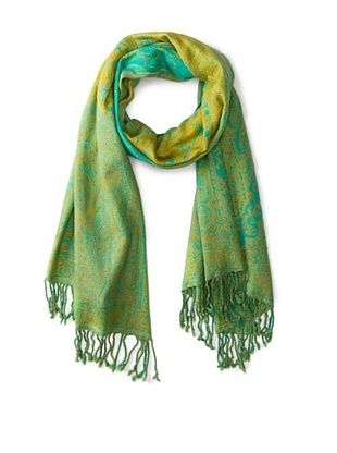 67% OFF Saachi Women's Woven Scarf, Green