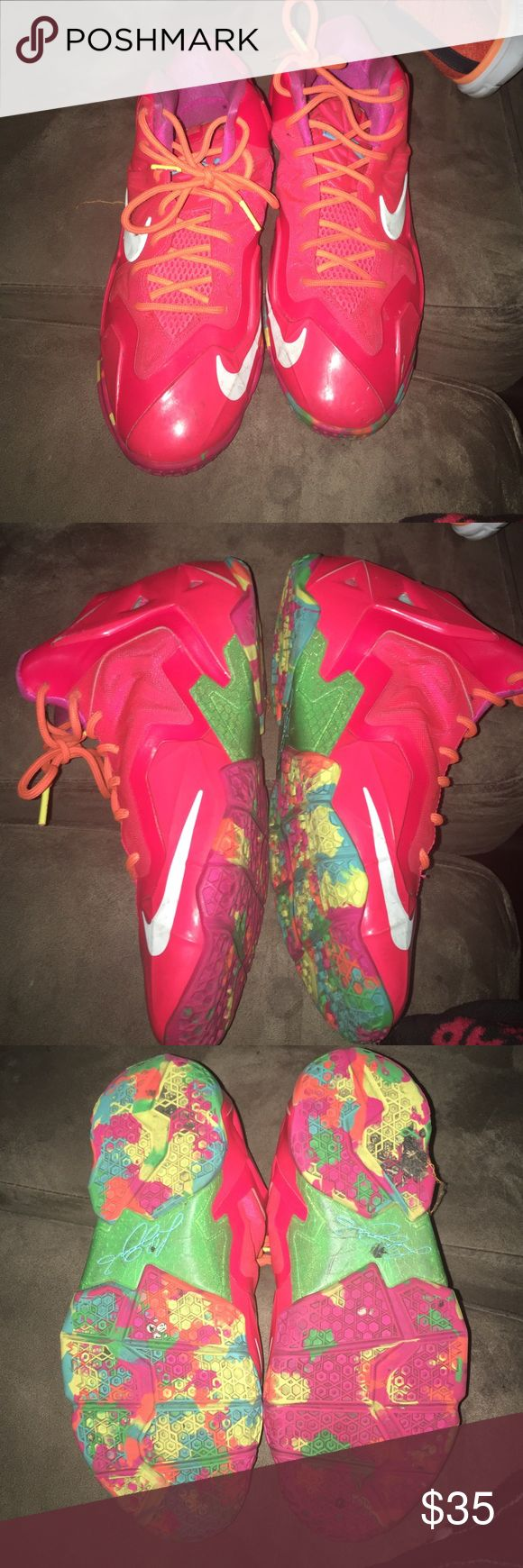 Fruity Pebble Lebron 11s Just need to be clean. Few scratches on them Nike Shoes Sneakers
