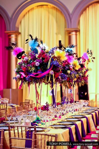"""""""Festa della Donna"""" Italian themed table centerpieces."""