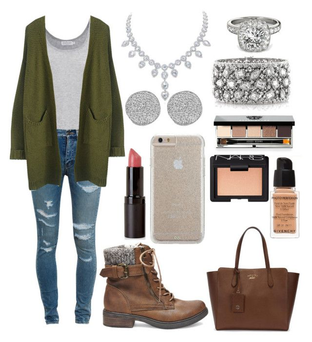 """""""Lunch Date Outfit"""" by reganshea29 ❤ liked on Polyvore featuring Velvet by Graham & Spencer, Yves Saint Laurent, Givenchy, Gucci, Karen Kane, Allurez, Mark Broumand, Steve Madden, Case-Mate and Bobbi Brown Cosmetics"""