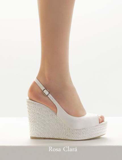 Zapatos de novia muy cómodos color blanco