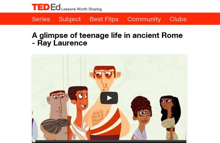 Screenshot from video 'A glimpse of teenage life in Ancient Rome'