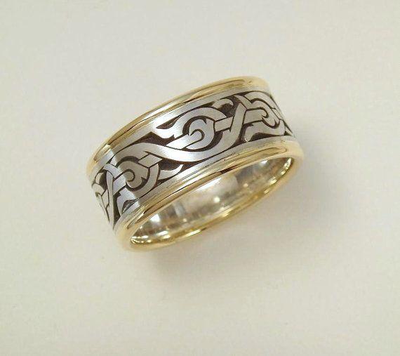 Mens Wedding Band, Nordic Ring, Viking Ring, Mens Ring ...